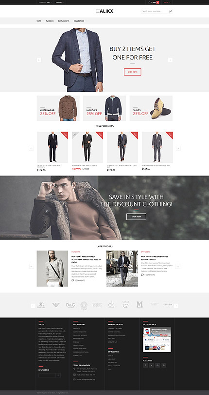Magento Theme/Template 58442 Main Page Screenshot
