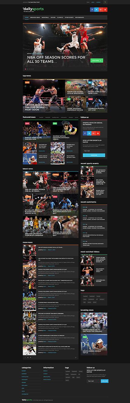 WordPress Theme/Template 58446 Main Page Screenshot