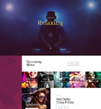 Night Club Landing Page  Template 58448