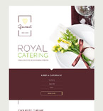 Food & Drink Landing Page  Template 58458