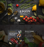 Cafe & Restaurant Landing Page  Template 58460