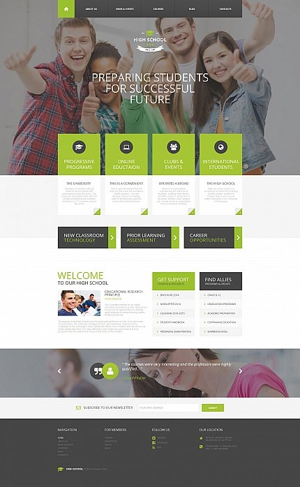 ADOBE Photoshop Template 58469 Home Page Screenshot
