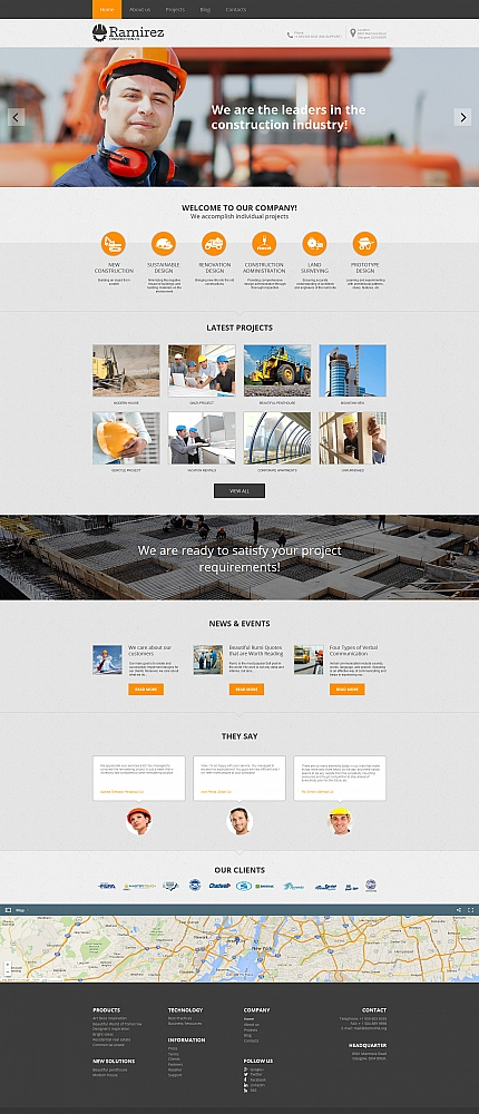 ADOBE Photoshop Template 58472 Home Page Screenshot