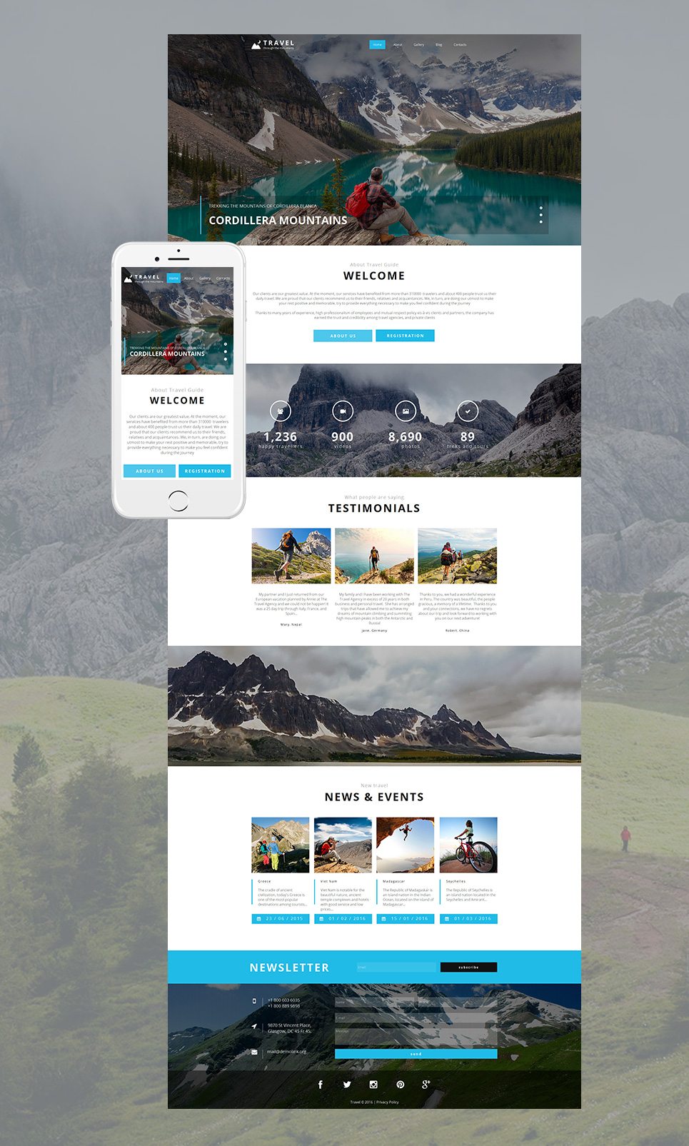 Travelling HTML Website Template - image