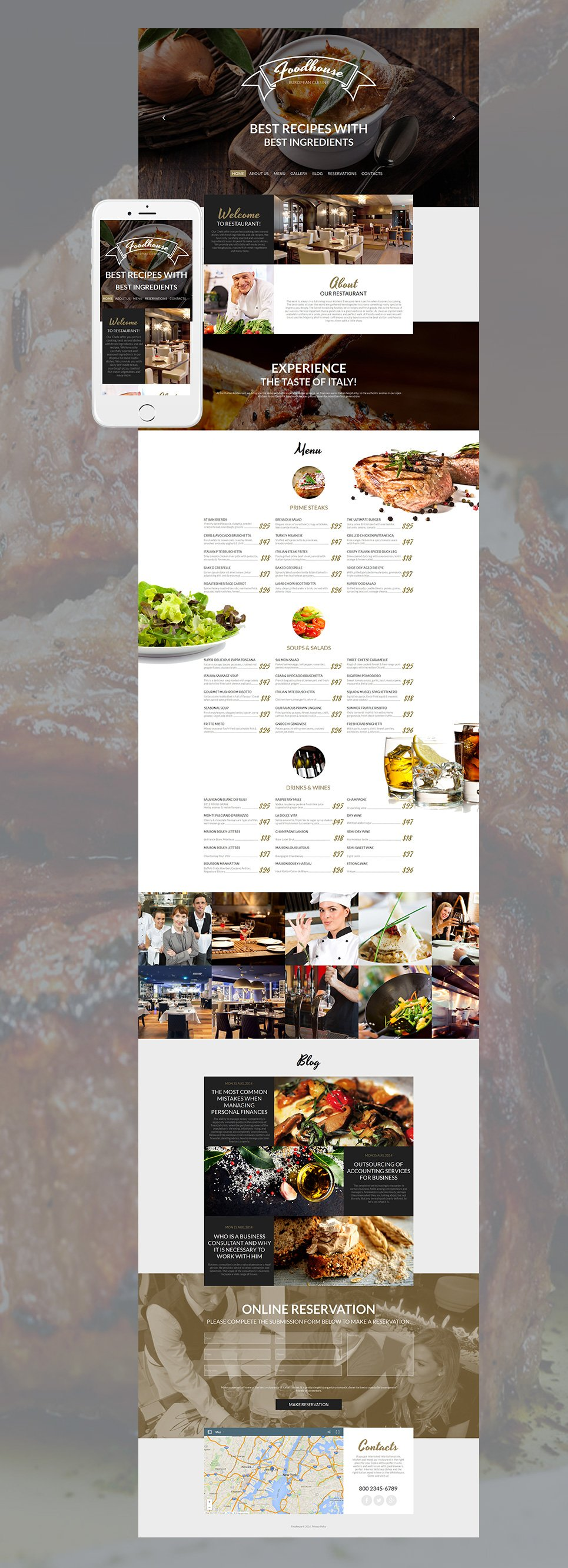 Foodhouse HTML Website Template - image
