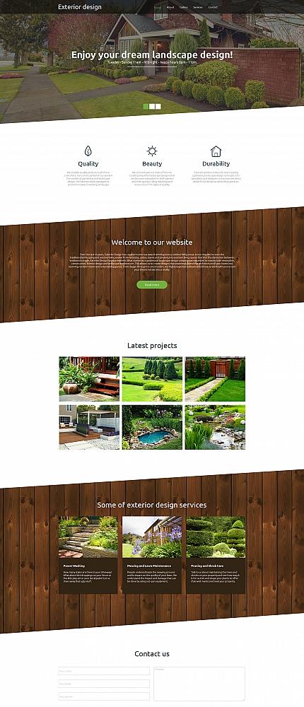 ADOBE Photoshop Template 58476 Home Page Screenshot