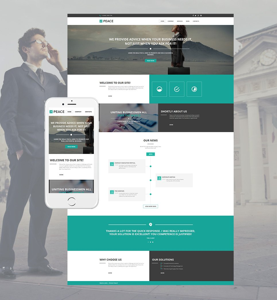 Peace html HTML Website Template - image
