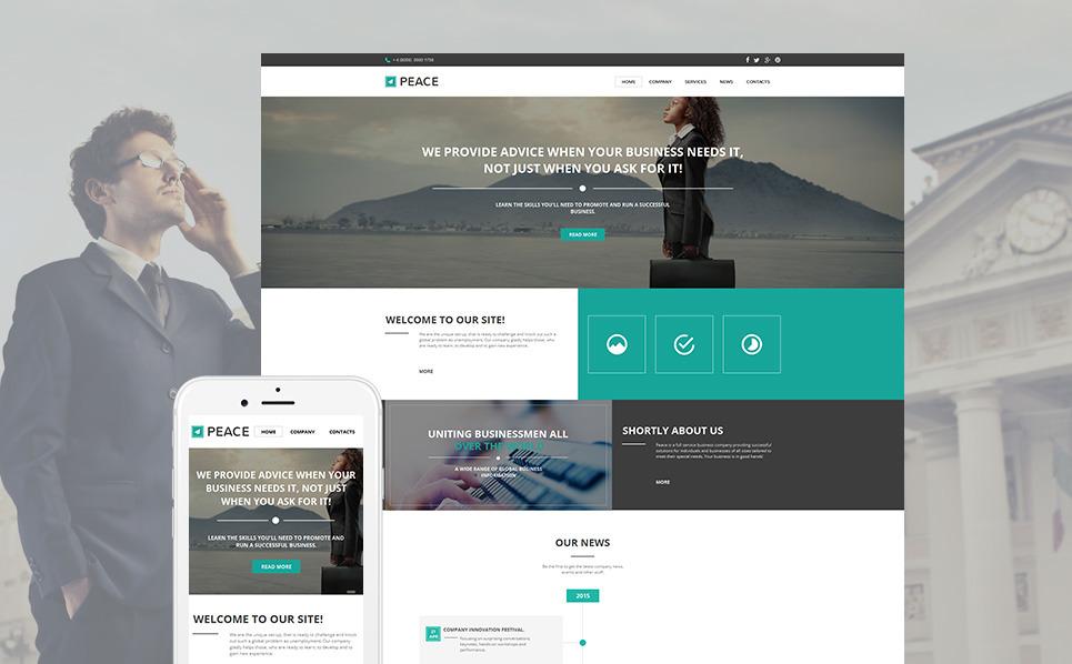 Szablon Moto CMS HTML #58477 na temat: biznes i usługi New Screenshots BIG