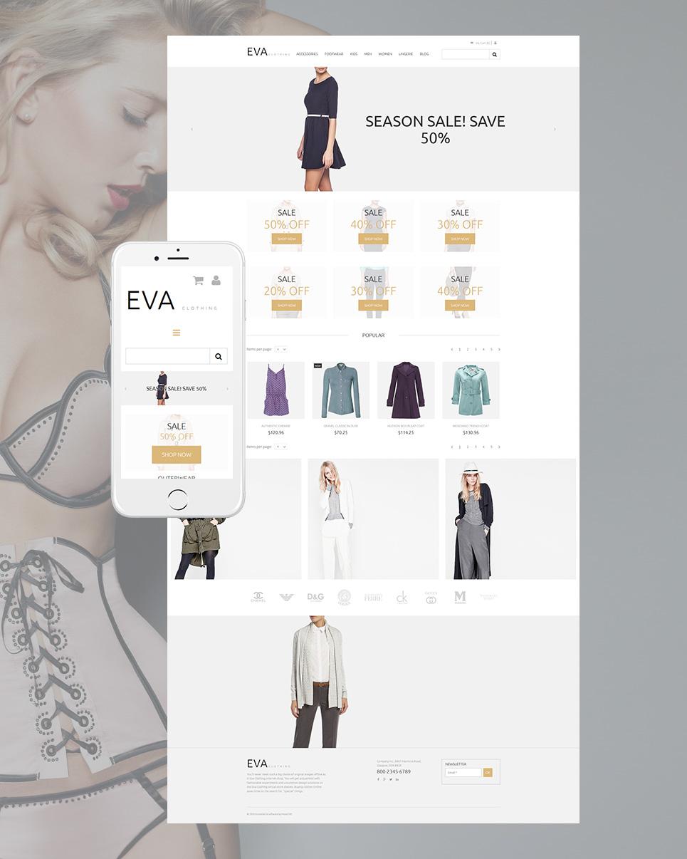 Eva Clothing Ecommerce Website Template - image