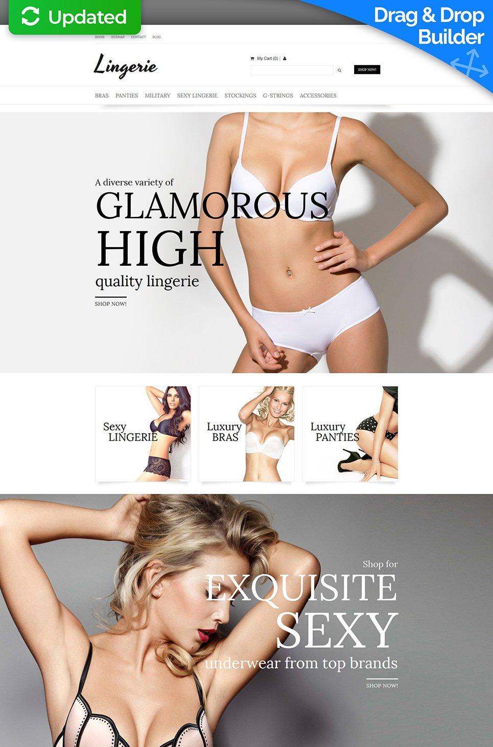 Lingerie Ecommerce Website Template - image