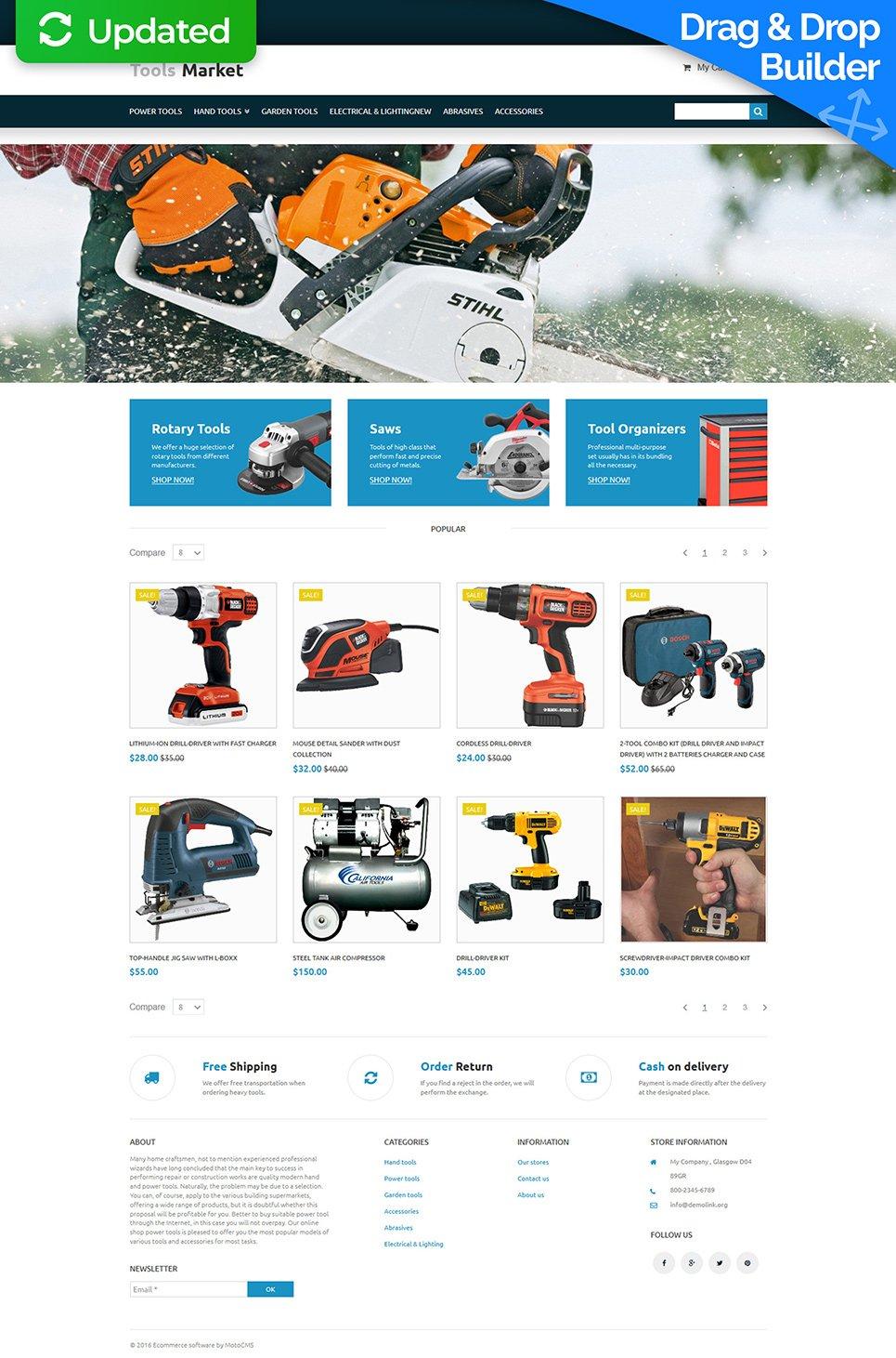 Tools Market Ecommerce Website Template - image