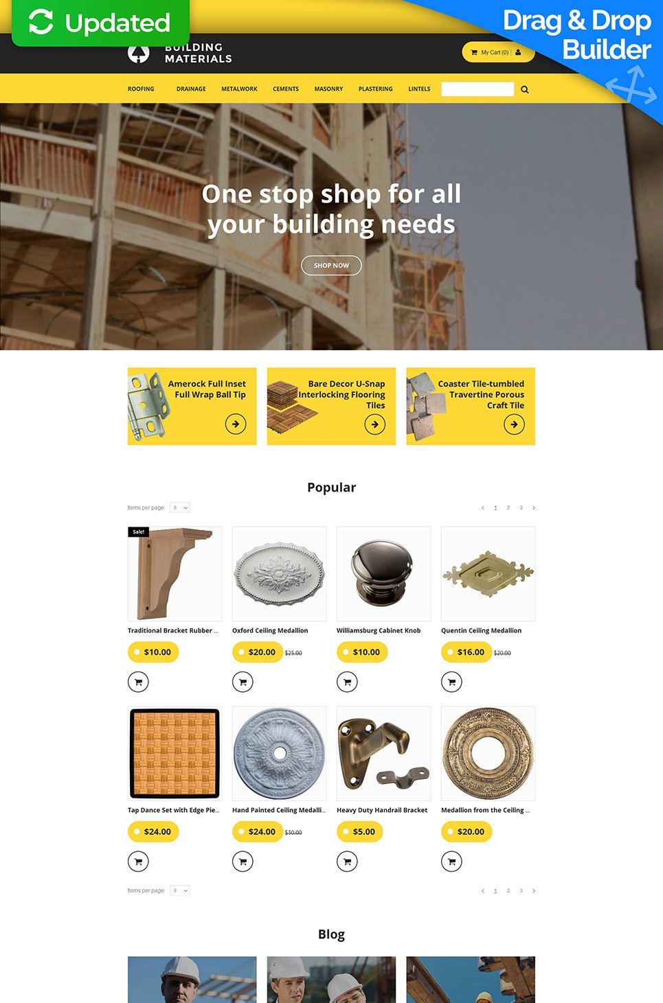 Building Materials Ecommerce Website Template - image