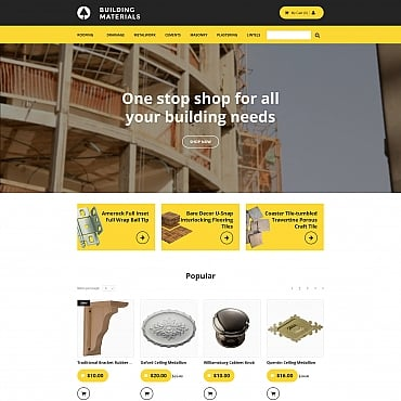 Preview image of Industrial MotoCMS Ecommerce Template No. 58484
