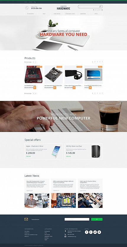 ADOBE Photoshop Template 58486 Home Page Screenshot