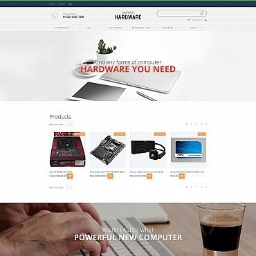 Preview image of Computers MotoCMS Ecommerce Template No. 58486