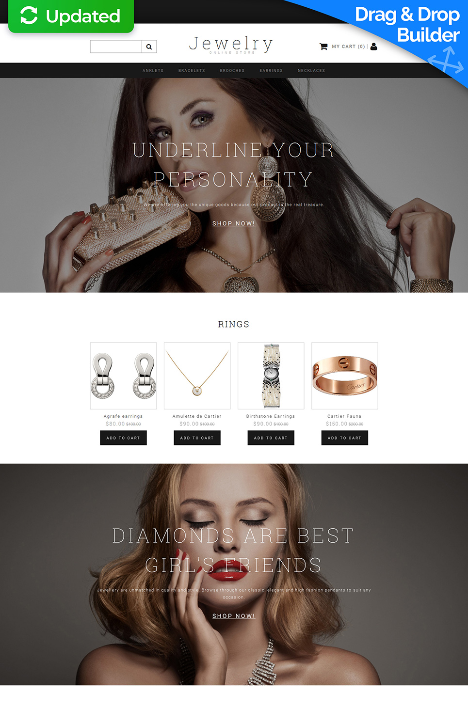 Jewelry Ecommerce Website Template - image