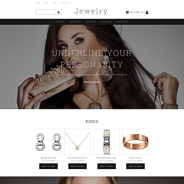 Preview image of Jewelry MotoCMS Ecommerce Template No. 58487