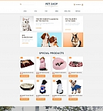 Animals & Pets MotoCMS Ecommerce  Template 58489