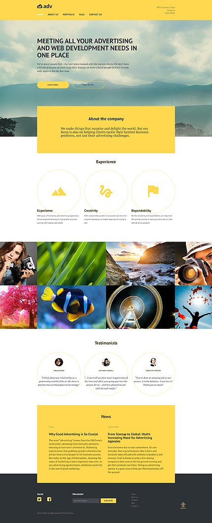 WordPress Theme/Template 58493 Main Page Screenshot