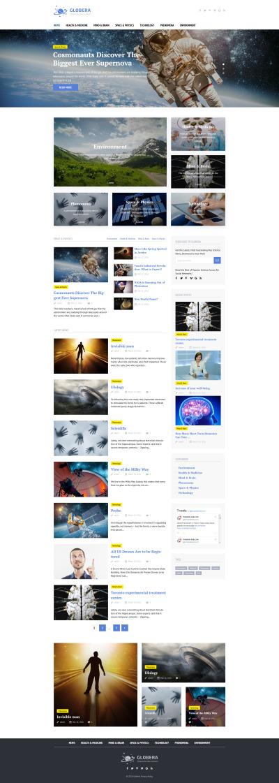 Адаптивний WordPress шаблон на тему астрономія #58459