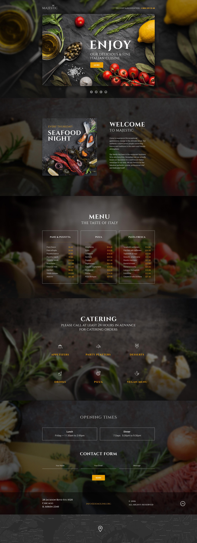 Адаптивный Шаблон посадочной страницы №58460 на тему итальянский ресторан - скриншот