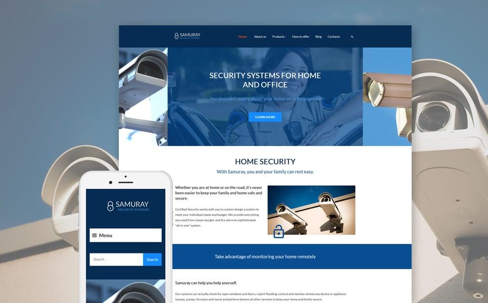 Адаптивный шаблон сайта на тему безопасность #58441