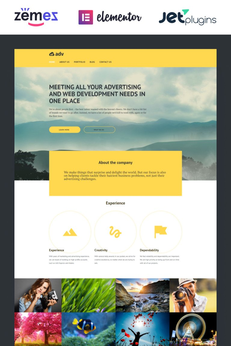 Adv WordPress Theme New Screenshots BIG