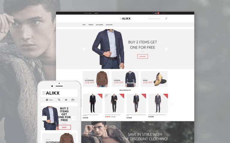 ALIKX Magento Theme New Screenshots BIG