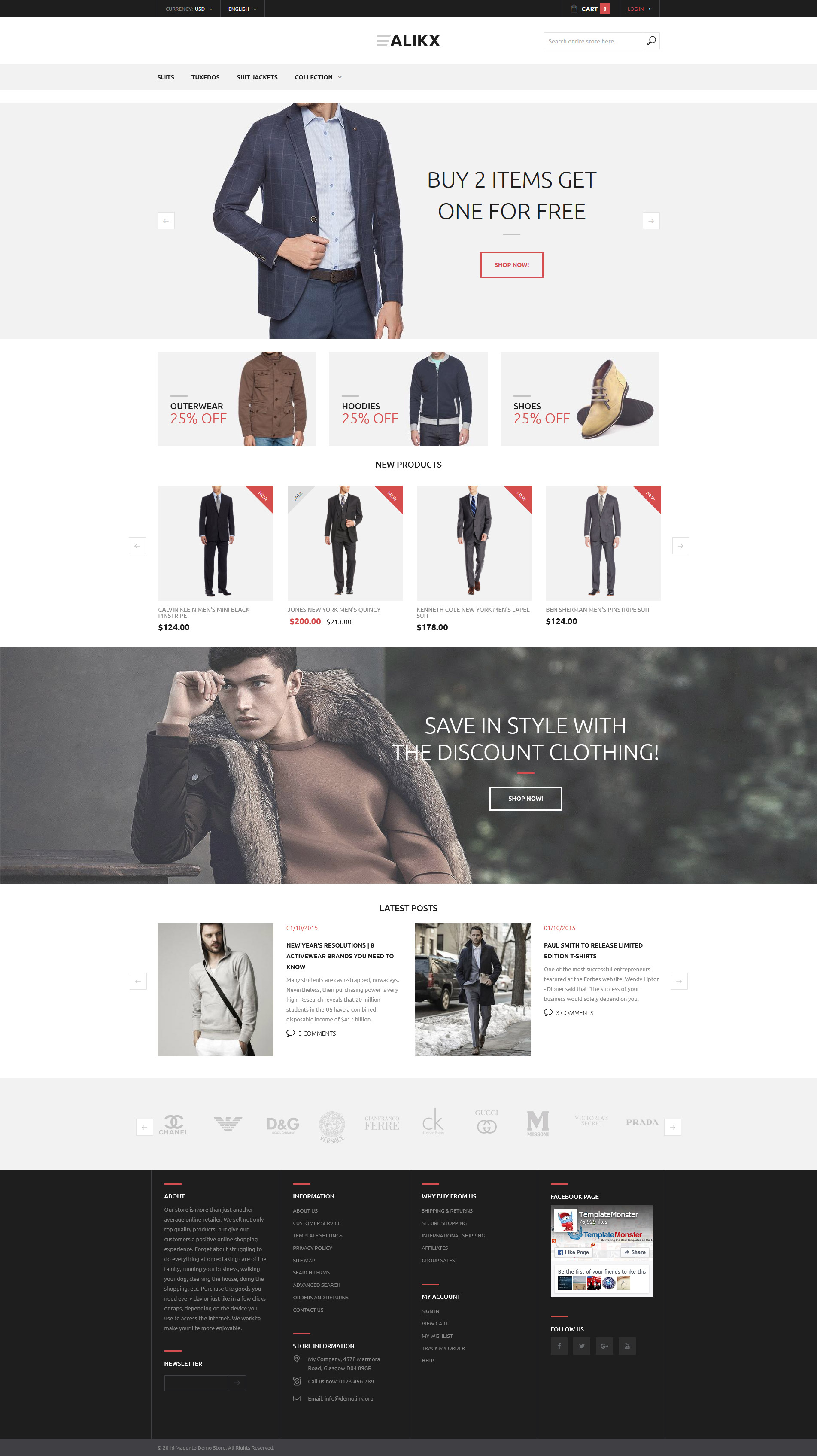 ALIKX - мужская одежда №58442 - скриншот