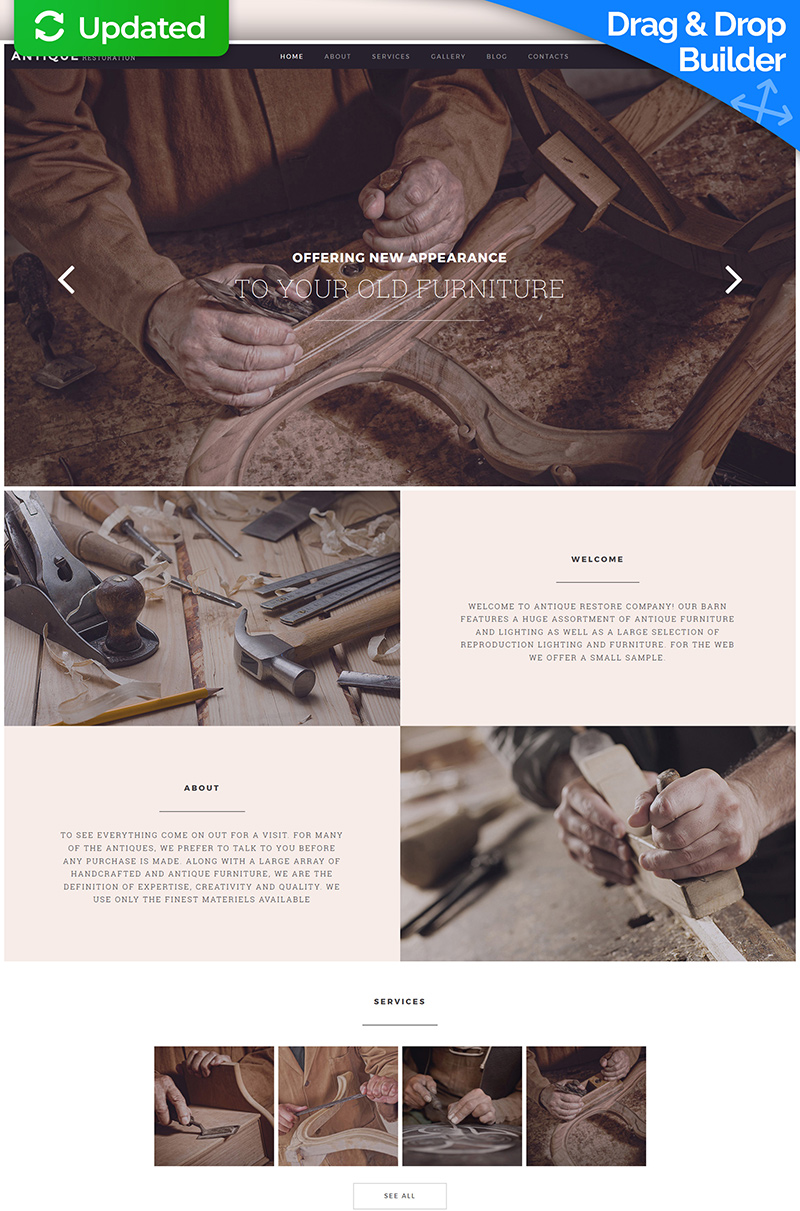 Antique Store Responsive Moto CMS 3 Template