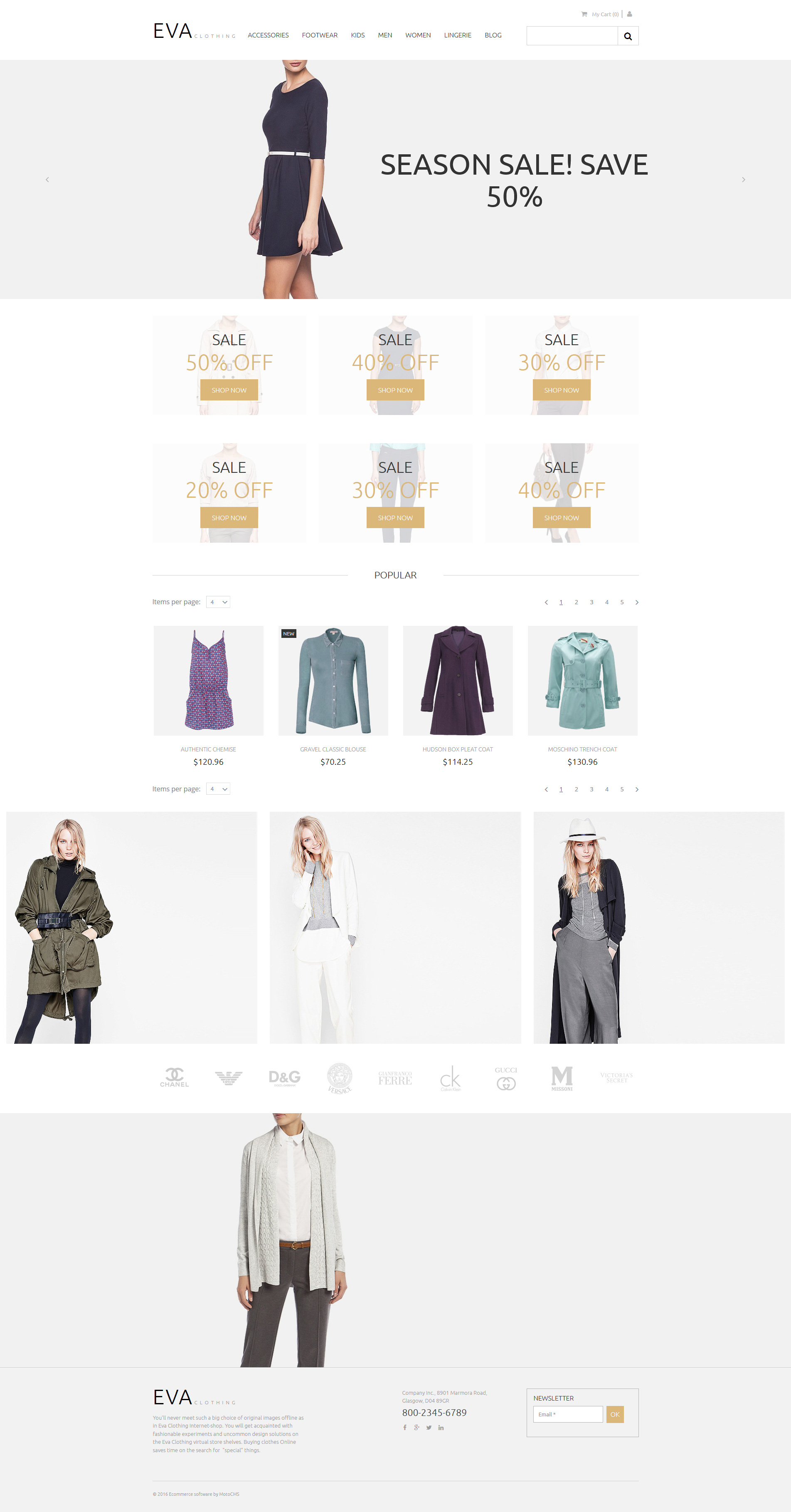 Apparel Responsive MotoCMS Ecommerce Template