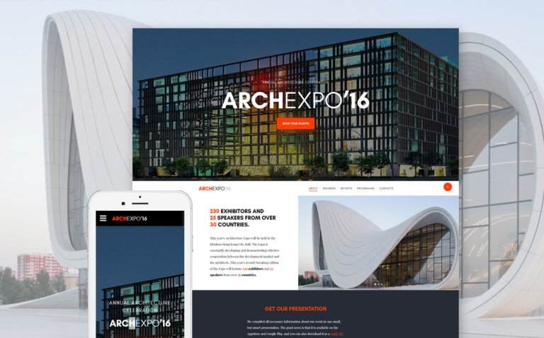 Arch Expo Website Template New Screenshots BIG