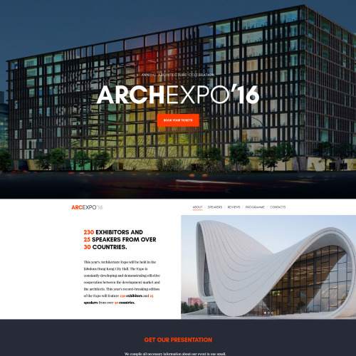 Arch Expo - Responsive Website Template