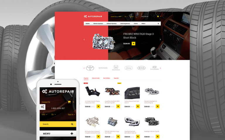 Autorepair - Car Parts PrestaShop Theme New Screenshots BIG