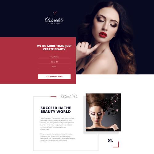 Aphrodite - HTML5 Landing Page Template