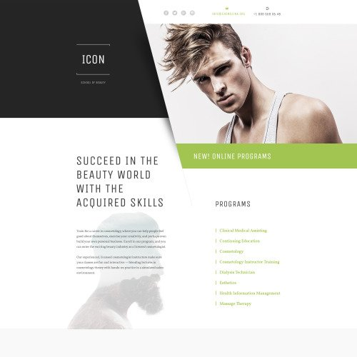 Icon - Responsive Landing Page Template