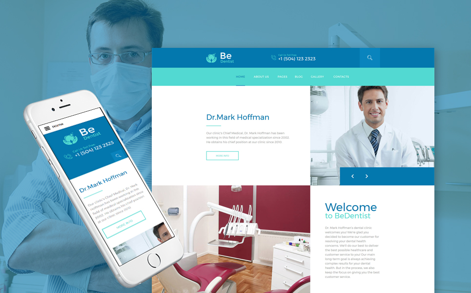 dental clinic responsive joomla template
