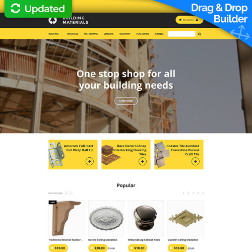 Building Materials - MotoCMS Ecommerce Template based on Bootstrap