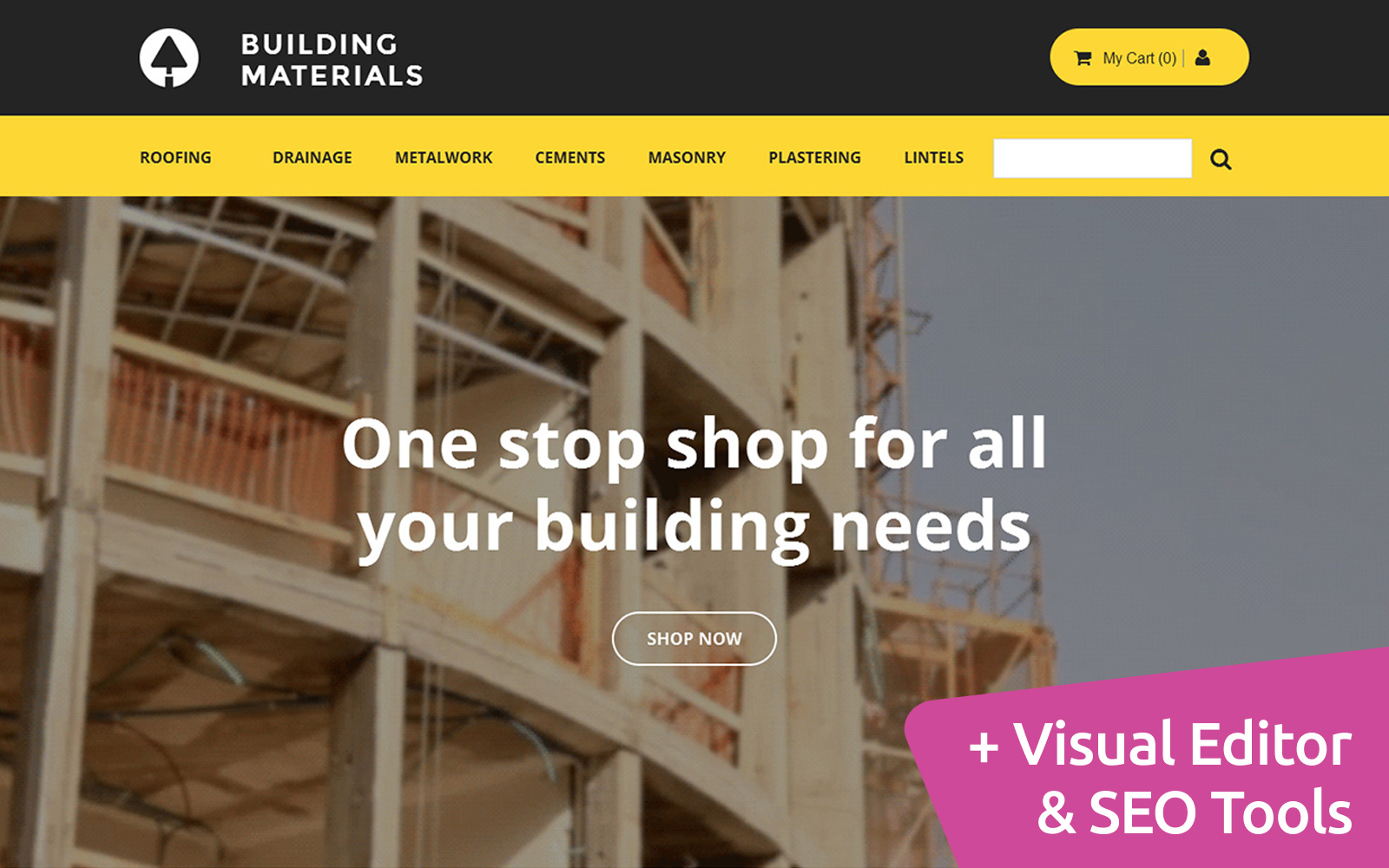 Building Materials Template Ecommerce MotoCMS №58484