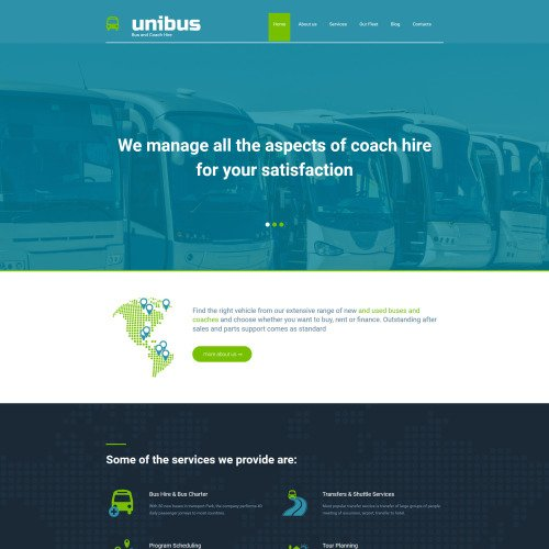 Unibus - MotoCMS 3 Template based on Bootstrap