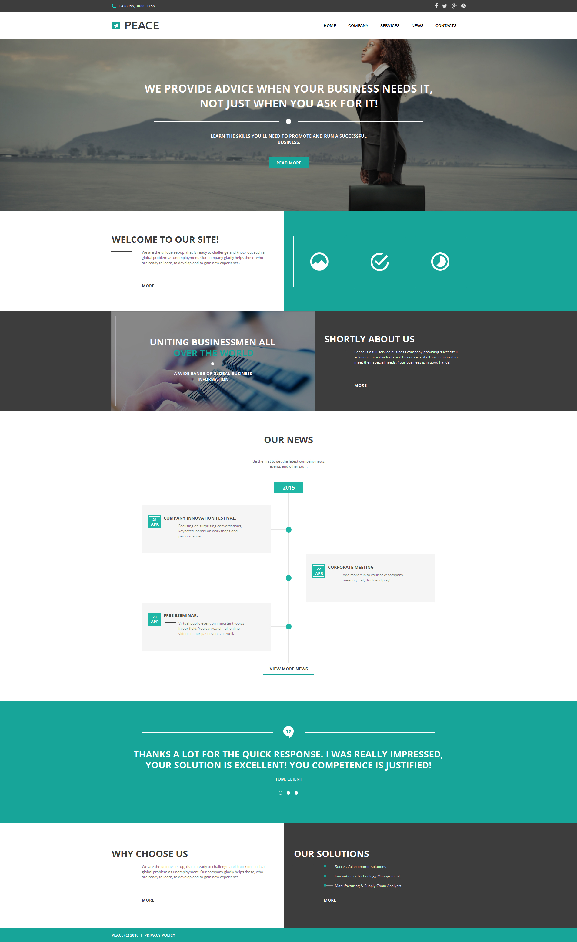 Business & Services Moto CMS HTML Template - screenshot