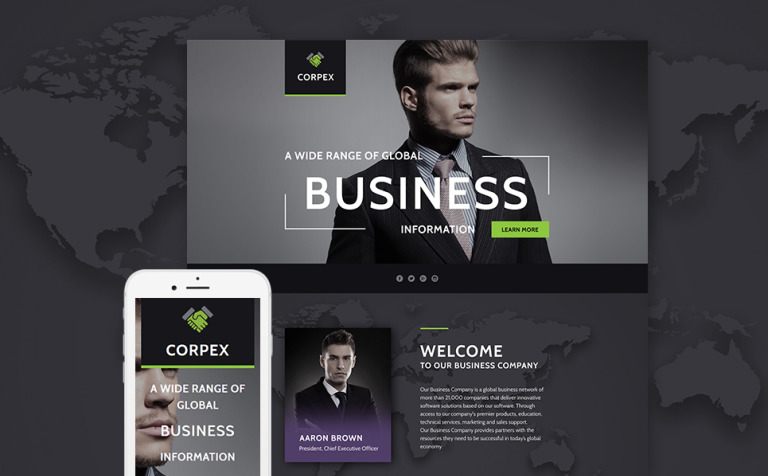Business responsive landing page template 58438 business responsive landing page template new screenshots big flashek Image collections