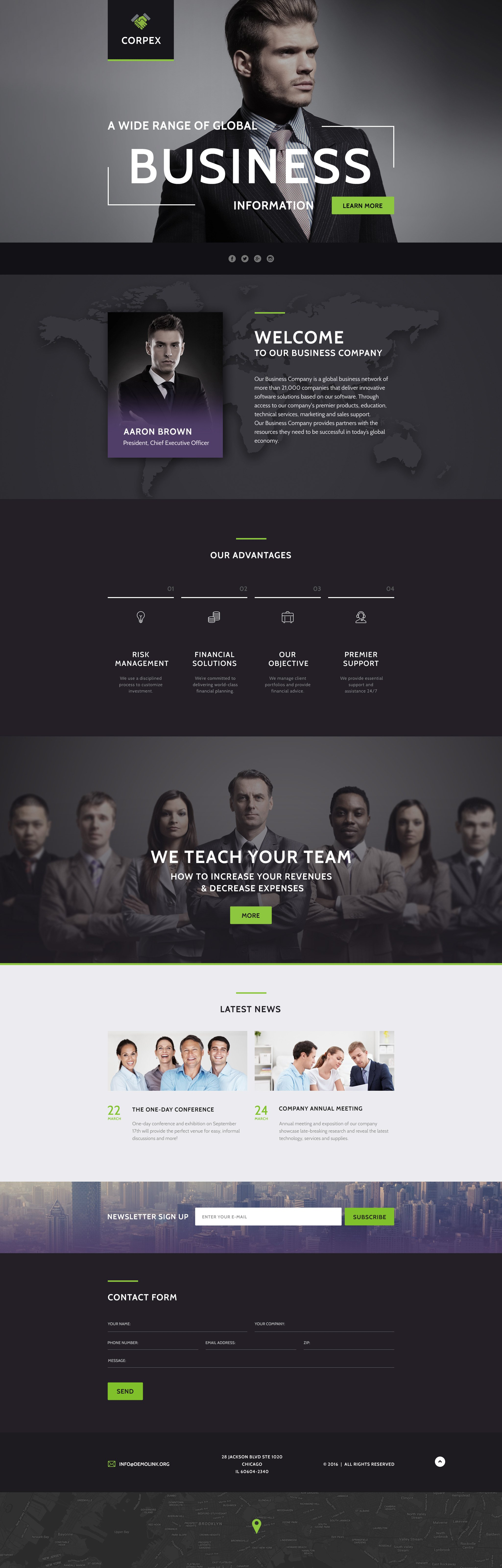 Business Responsive Landing Page Template #58438