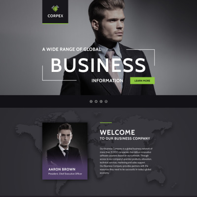 Corporate style landing page templates templatemonster flashek Image collections