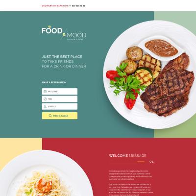food restaurant landing page templates templatemonster