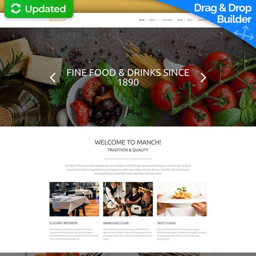 Manch - Restaurant Template based on Bootstrap