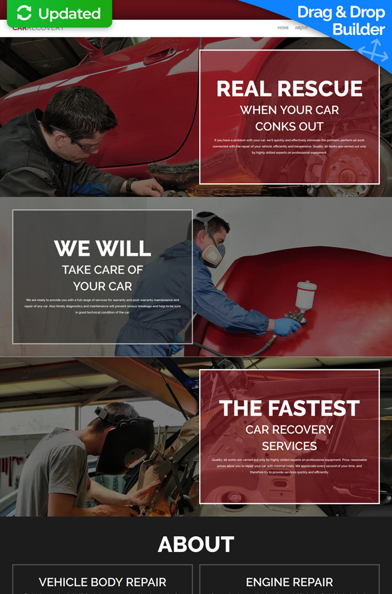 Car Repair Responsive Moto CMS 3 Template New Screenshots BIG