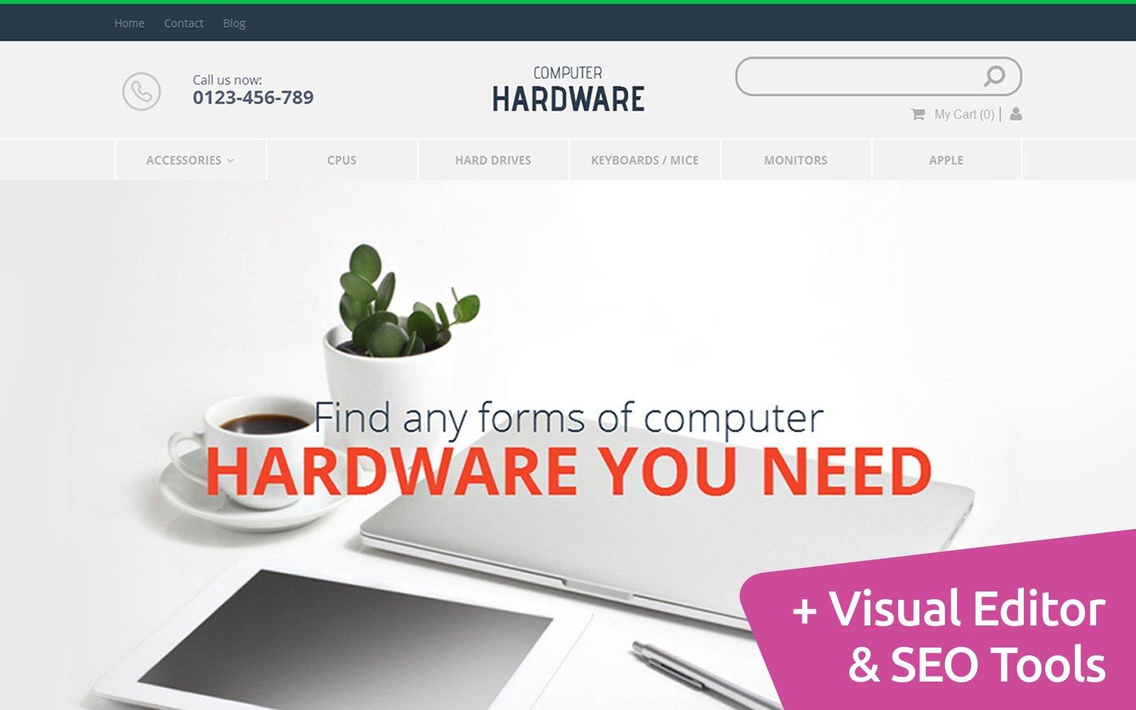 Computer Hardware Template Ecommerce MotoCMS №58486