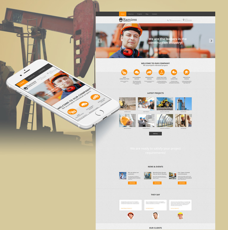 Construction Company Moto CMS HTML Template New Screenshots BIG
