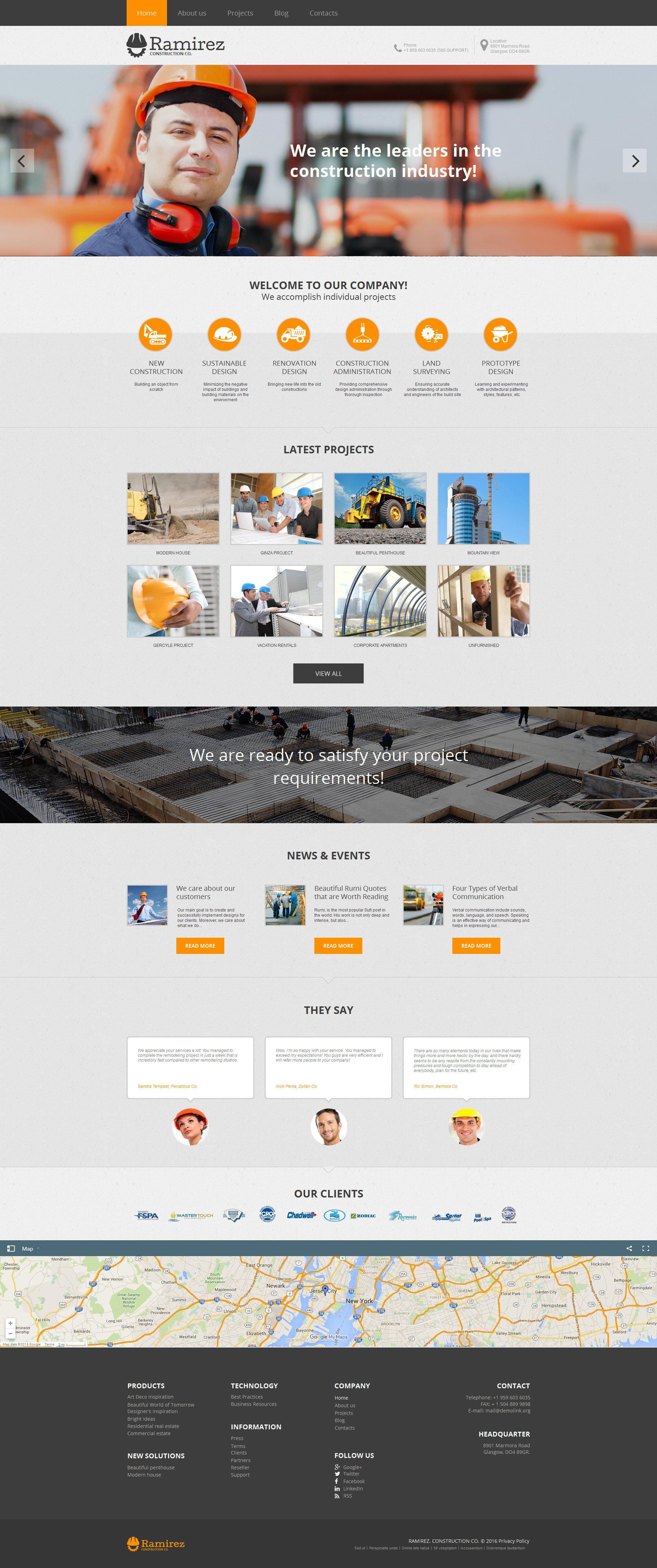 Construction Company Moto CMS HTML Template